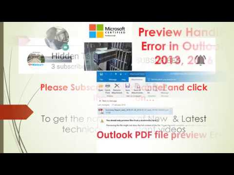 2007 pdf for outlook preview handler