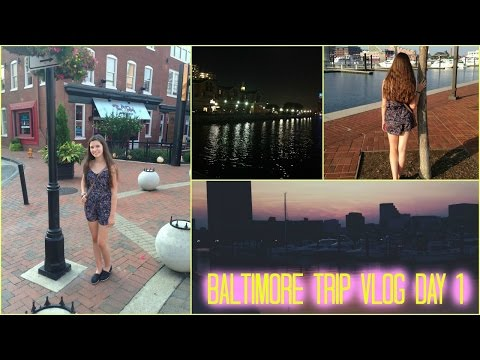 Baltimore Trip Day 1 Vlog: Traveling, Harbor, and Food