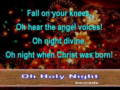 Oh Holy Night - karaoke version - YouTube