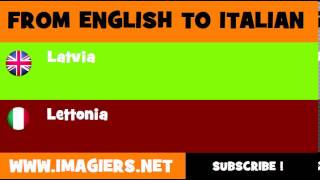 How to say Latvia in Italian