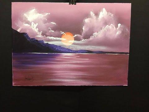 #67. Maroon Sunset (acrylic)