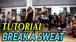"""BREAK A SWEAT"" - Becky G Dance TUTORIAL 