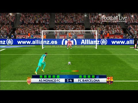 PES 2017 | AS Monaco vs FC Barcelona | Penalty Shootout | UEFA Champions League