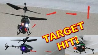 Rocket Launching RC Helicopter - RC Aircraft with Machine Gun! Wltoys V398