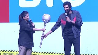 Anchor Suma Making Hilarious Fun With Rana | HIT Pre Release Event | Manastars