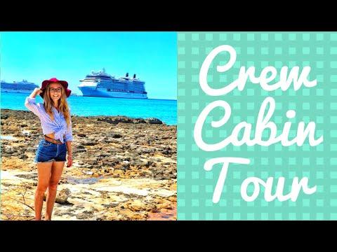 My Crew Cabin Tour - Cruise Ship living quarters
