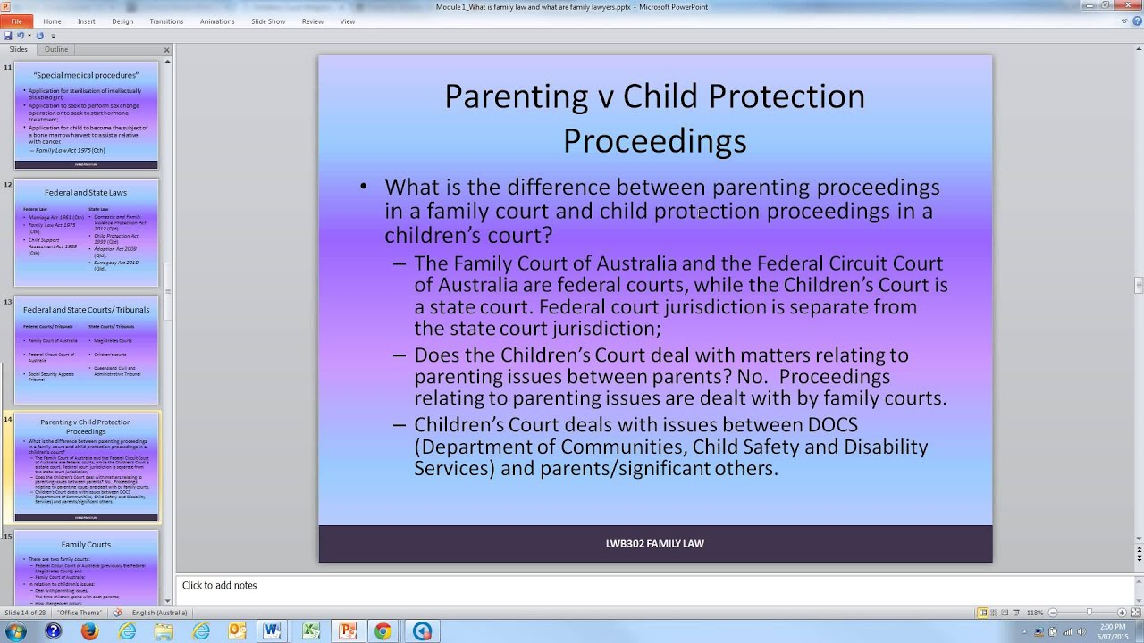 LLB 243 Module 1: What is family law?