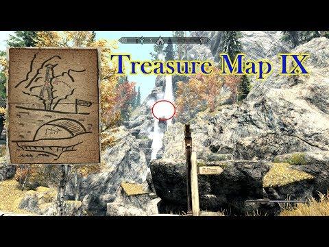Treasure Map IX Location in Skyrim! - YouTube