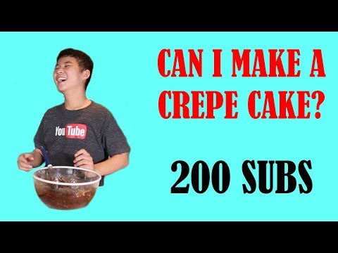 Trying Making A Crepe Cake! (200 Subs Special)   Jerald Tries