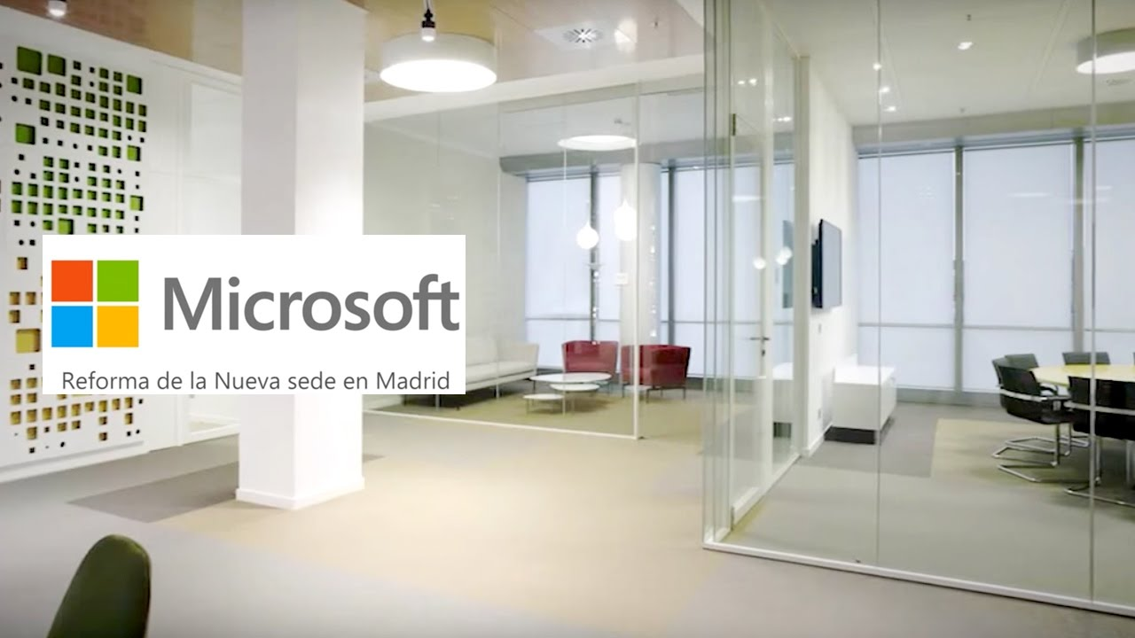 Nueva sede microsoft ib rica by 3g office youtube for Vaciado de oficinas en madrid