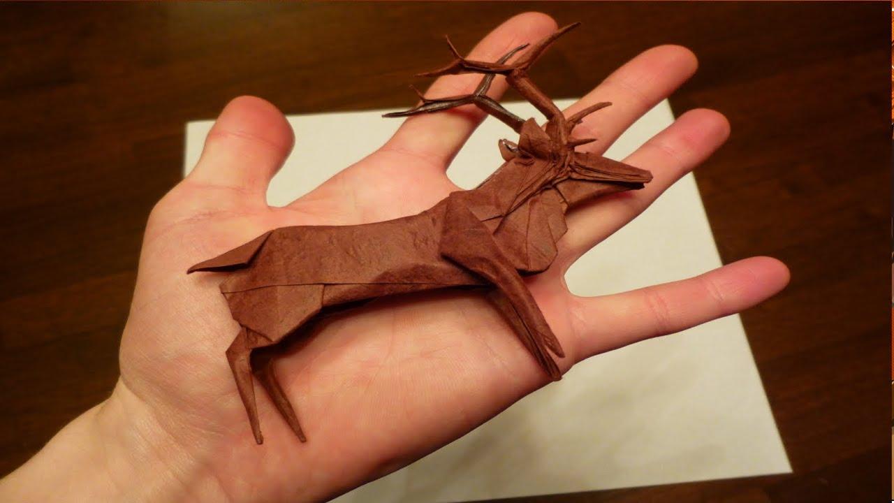 Origami roosevelt elk photo walkthrough robert j lang youtube jeuxipadfo Image collections