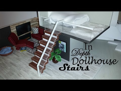DIY Miniature in Depth Dollhouse Stairs