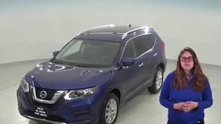 C95652TR - Used, 2017, Nissan Rogue, Blue, SUV, Test Drive, Review, For Sale -