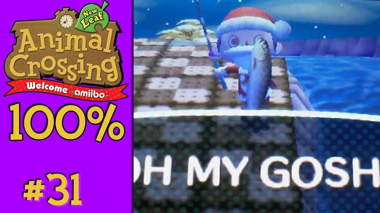 Animal Crossing New Leaf 100 31 Stringfish Youtube