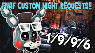 FNAF Custom Night REQUESTS ARE BACK! || Five Custom Nights At Freddy's #1
