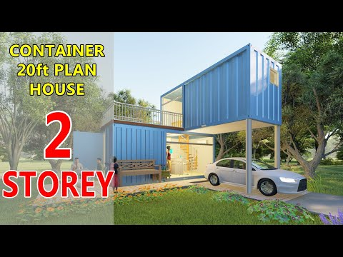 Container House Design Ideas 20ft Plan 2 Storey Project