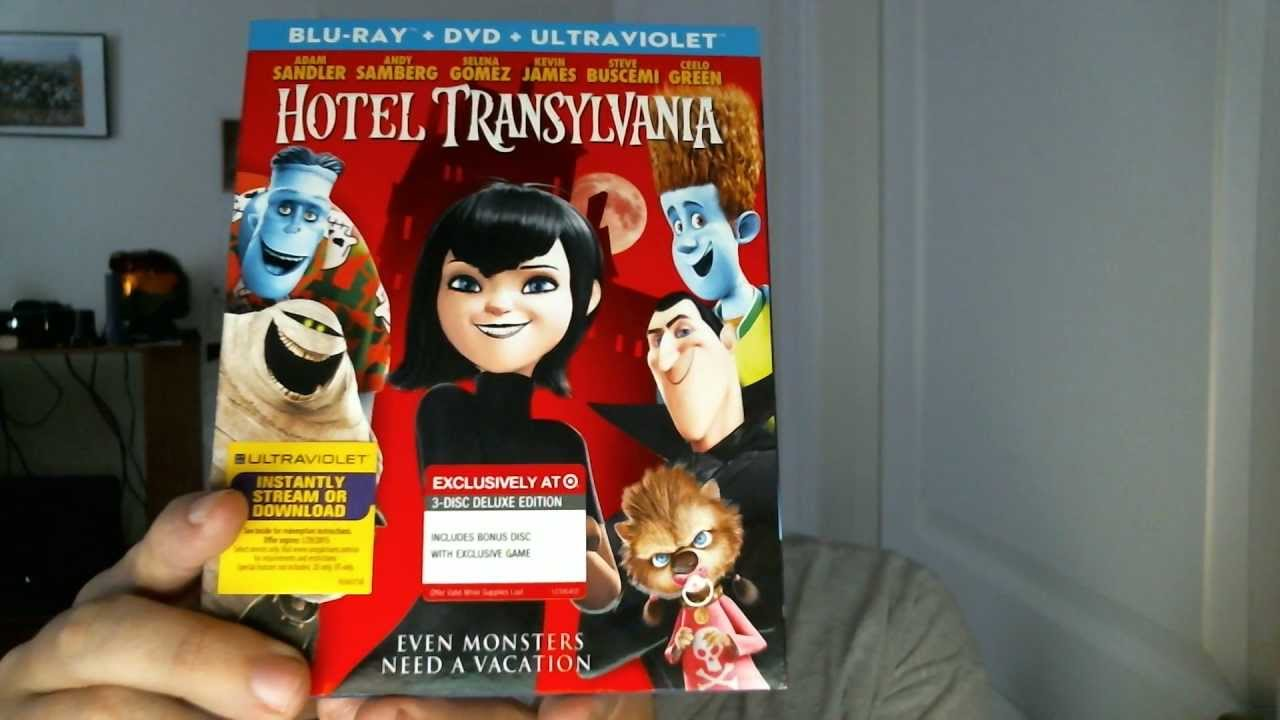 Hotel Transylvania Target Exclusive Blu Ray DVD Digital Copy Combo Pack Unboxing