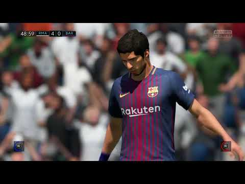 FIFA18 -  Real Madrid C.F. VS FC Barcelona || Full Game Play With Friend