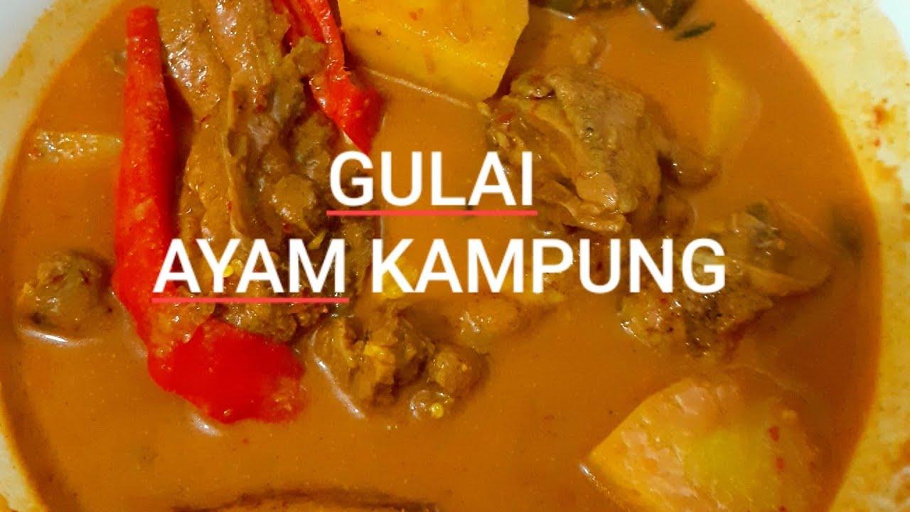 Gulai Ayam Kampung Versi Terengganu Autumnlady Youtube