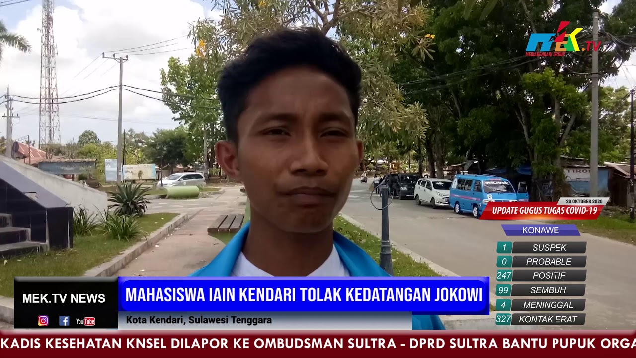 Mahasiswa IAIN Kendari Tolak Kedatangan Jokowi