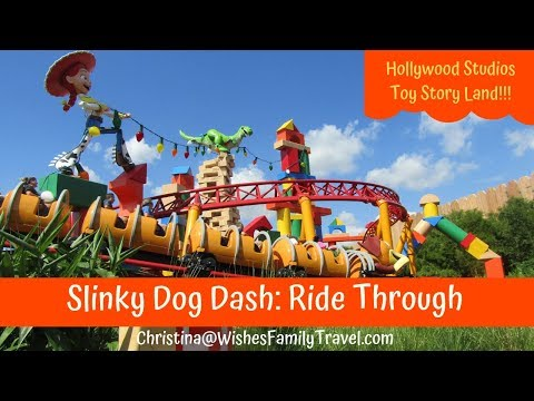 Toy Story Land: Slinky Dog Dash (Ride Through Video) Disney World Hollywood Studios