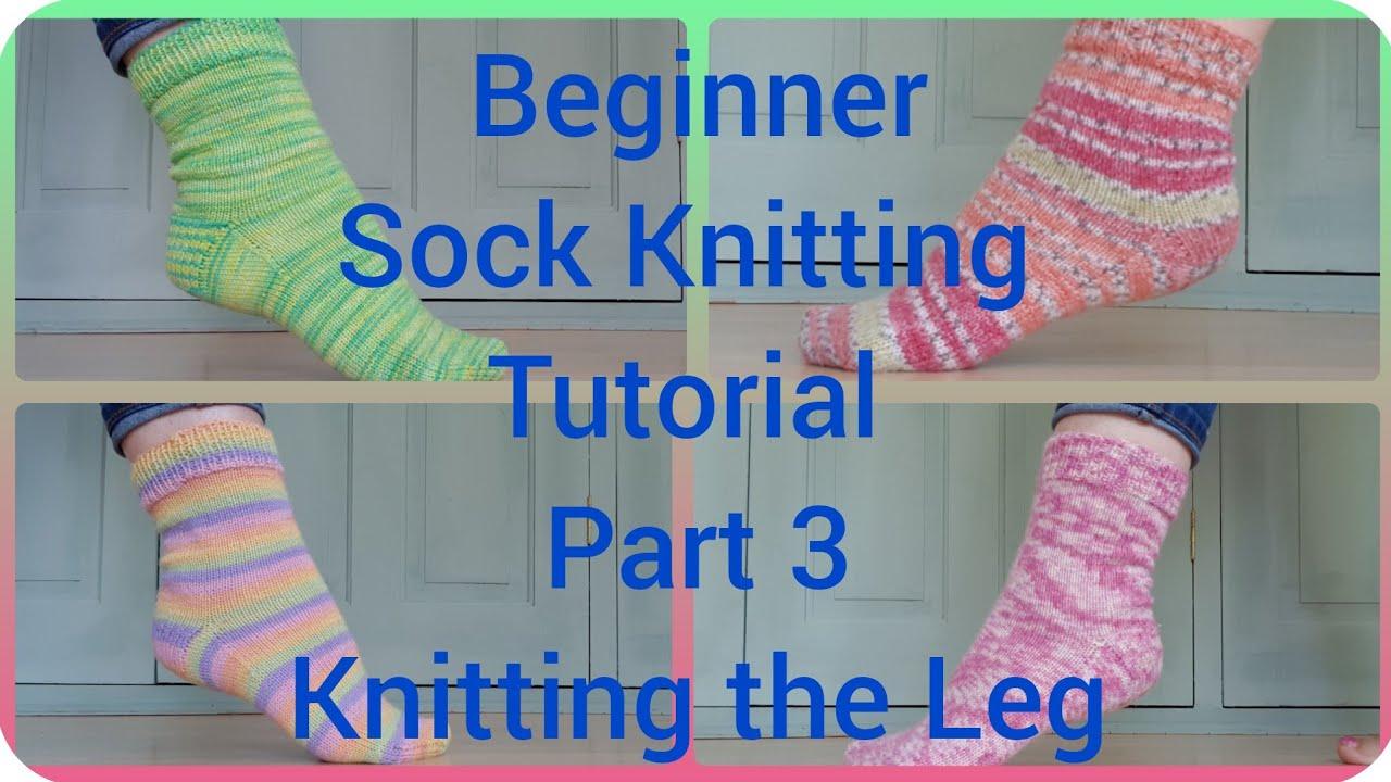 Sock Knitting Tutorial On 9 Quot Circular Needles Part 2 Youtube
