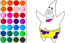 Colorings Patrick from SpongeBob SquarePants for Baby, Drawings for Babies