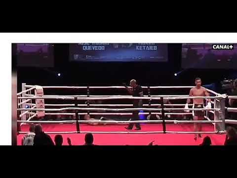 Un español recibe un brutal  KO e levántase tan desorientado que celebra a vitoria
