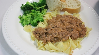 Crock Pot Ground Beef Stroganoff Recipe: Slow Cooker Ground Beef Recipes