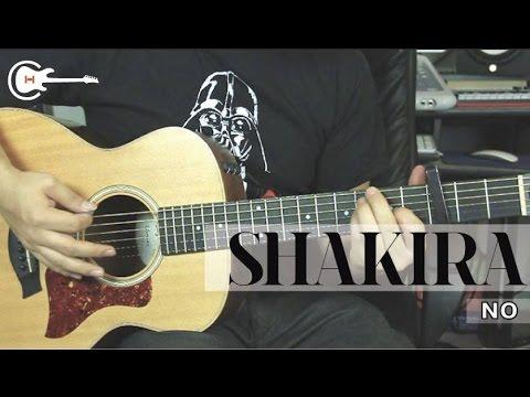"Como Tocar ""No"" De Shakira Ft. Gustavo Cerati - Tutorial Guitarra (HD)"