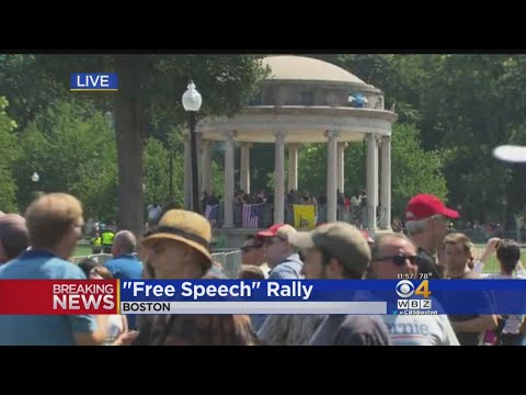 'Free Speech Rally' Gets Underway On Boston Common Amid Counter Protests