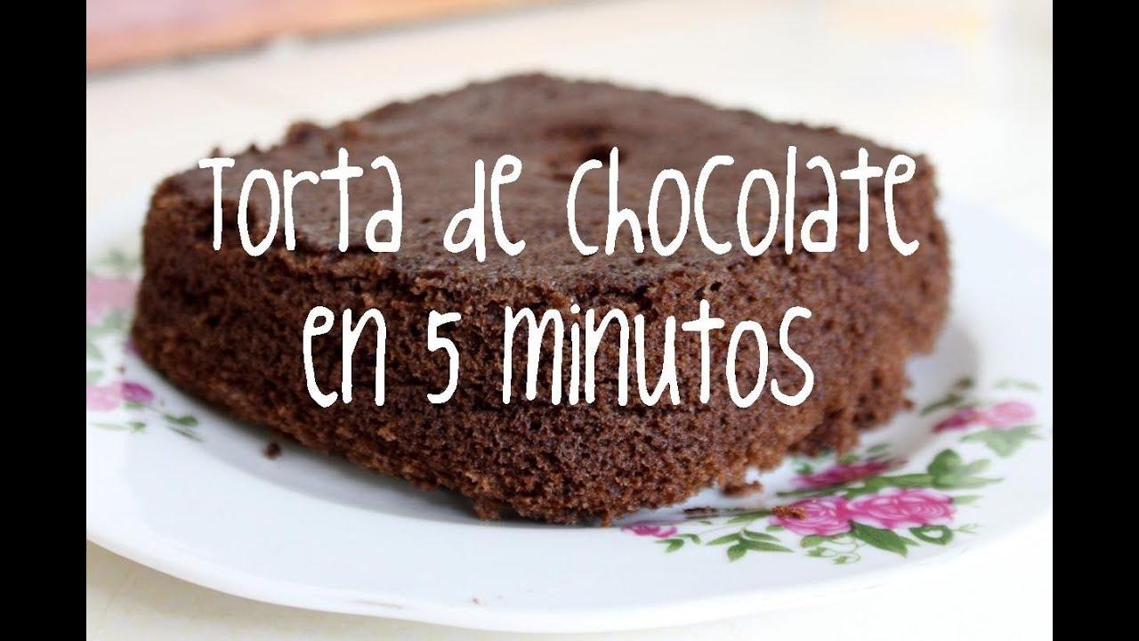 Pastel De Chocolate En 5 Minutos Con Microondas