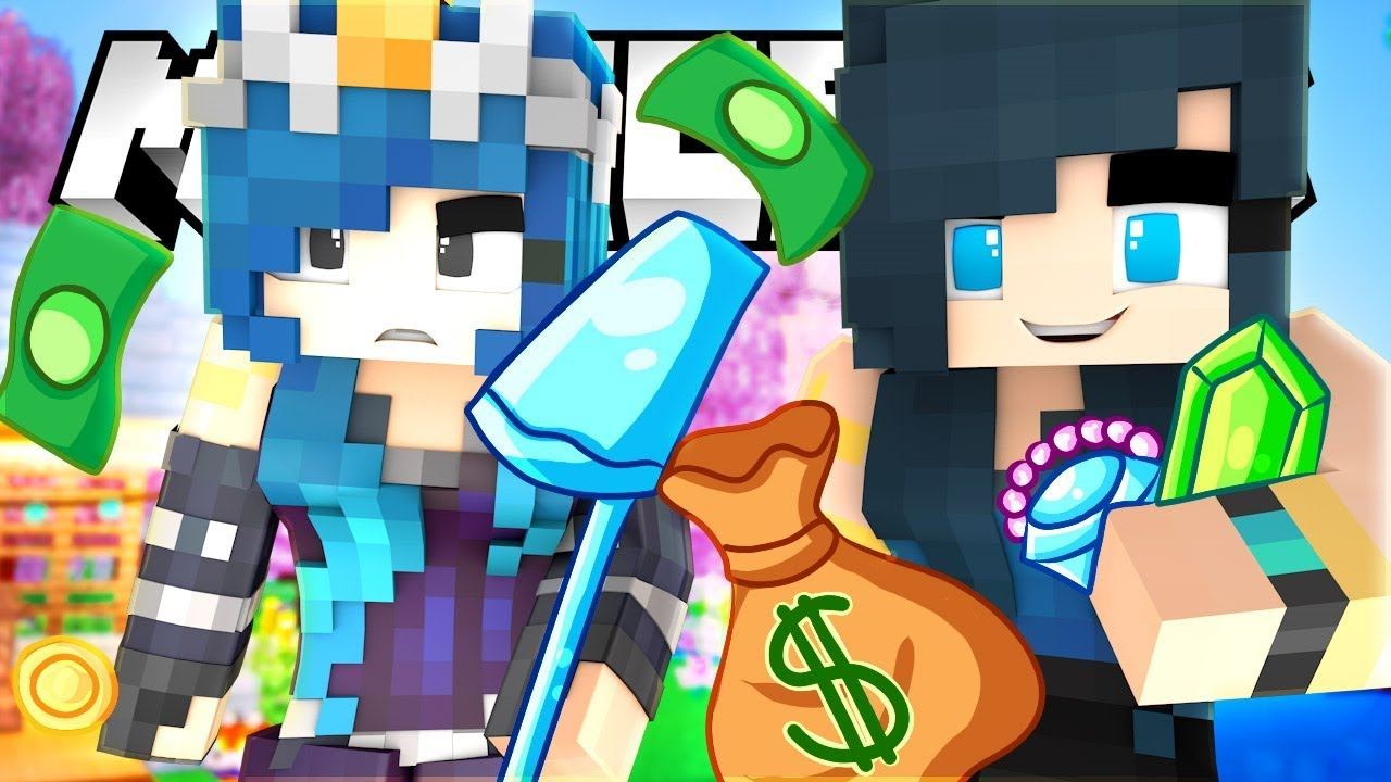 WE ROB A BANK IN MINECRAFT! OOPS!