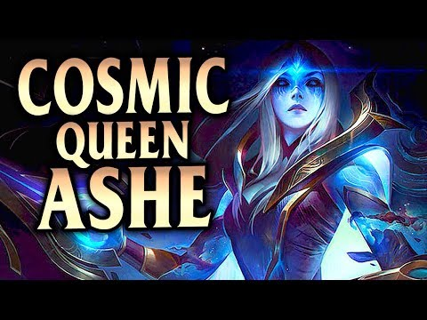New Cosmic Queen Ashe Skin! Ashe ADC with Pikachu! - League of Legends S8