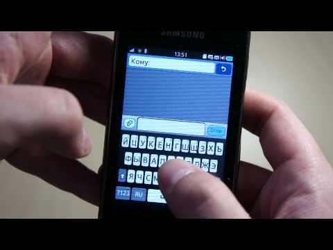 Видео Samsung Wave Y S5380