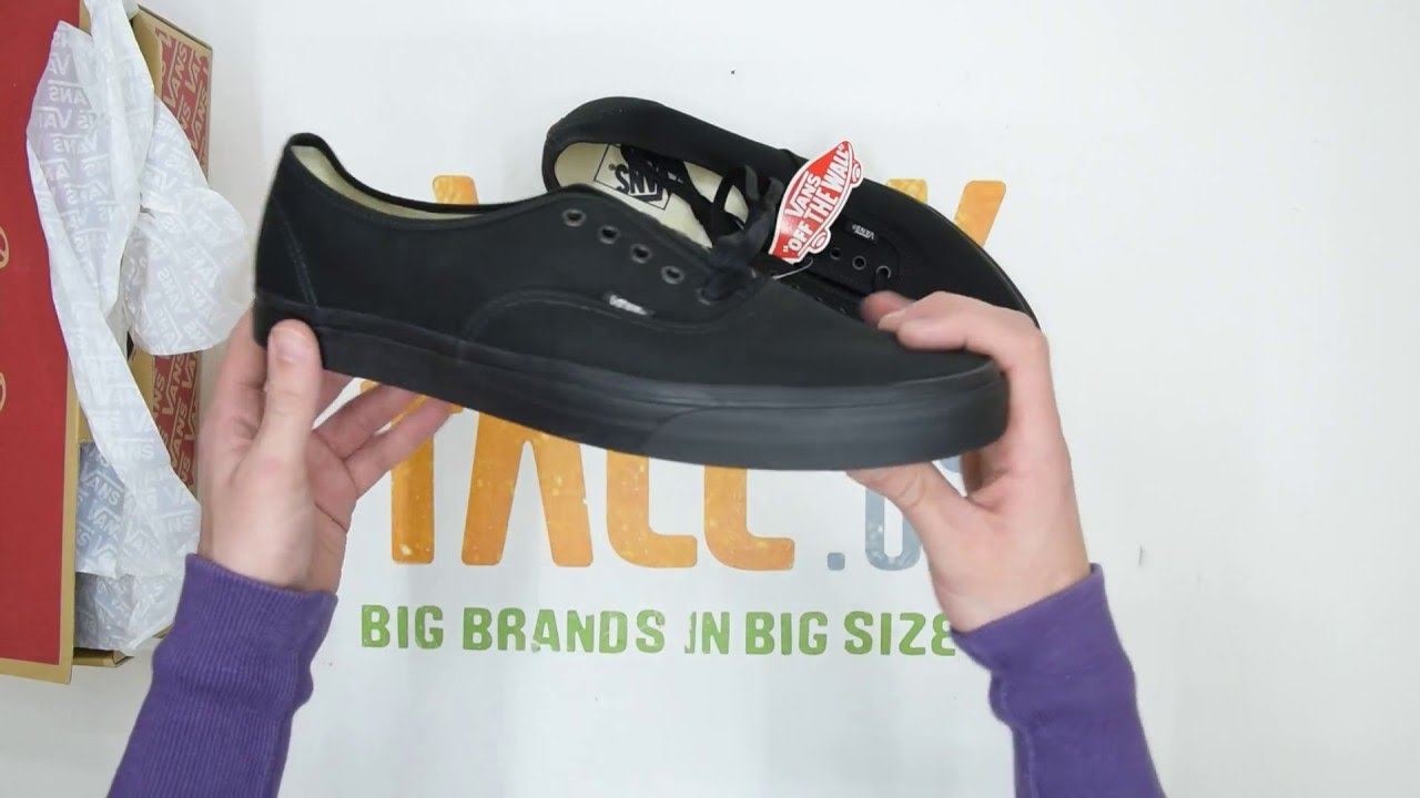 525d33b7d6 Vans Authentic - Black Black - Unboxing