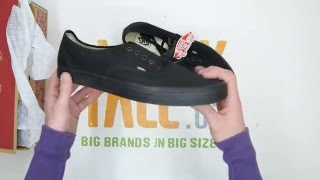 Vans Authentic - Black / Black - Walktall | Unboxing | Hands on