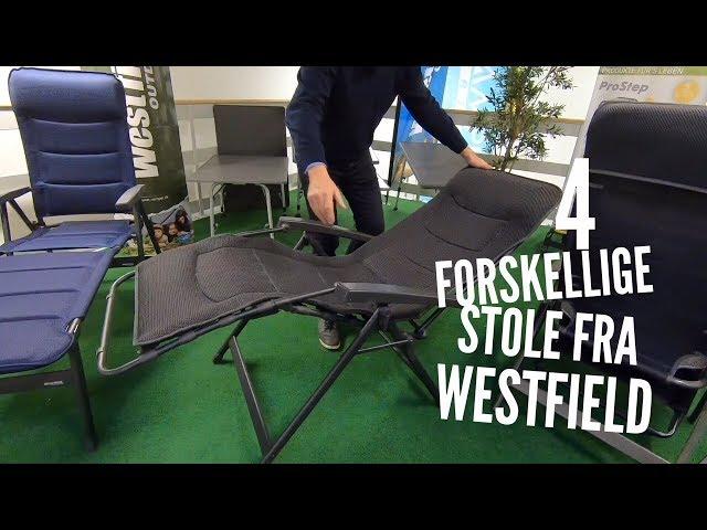 4 forskellige Westfield stole fra Camper Fritid
