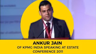 Ankur Jain of KPMG India speaking at