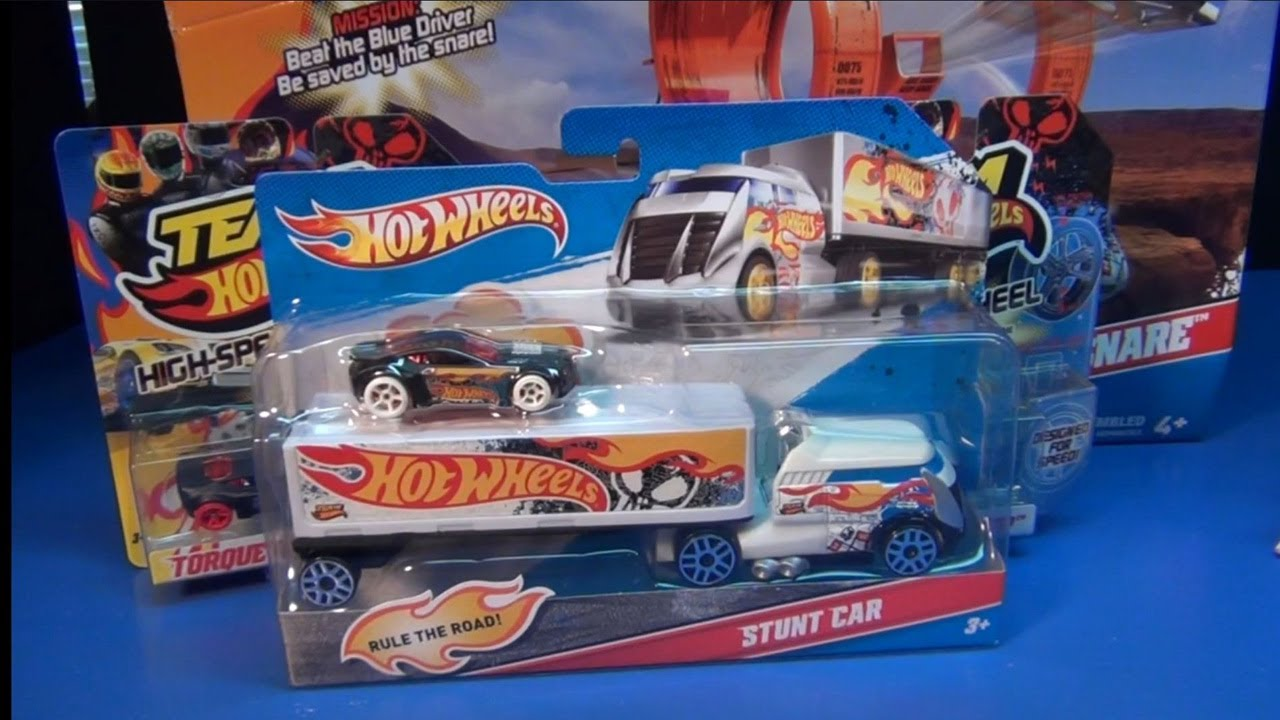 team hot wheels truckin 39 transporter stunt car youtube. Black Bedroom Furniture Sets. Home Design Ideas