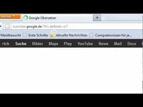 Mit Dem Google Übersetzer Wörter, Texte, Webseiten Oder Dokumente übersetzen
