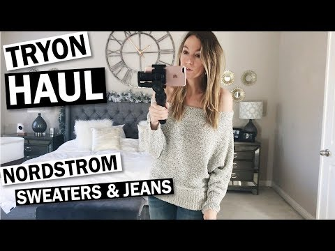 Nordstrom Try On Haul: Comfy Sweaters & Jeans