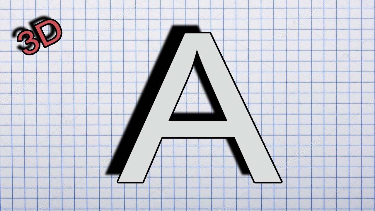 3 boyutlu harf çizimleri 1 3 boyutlu a harfi çizimi