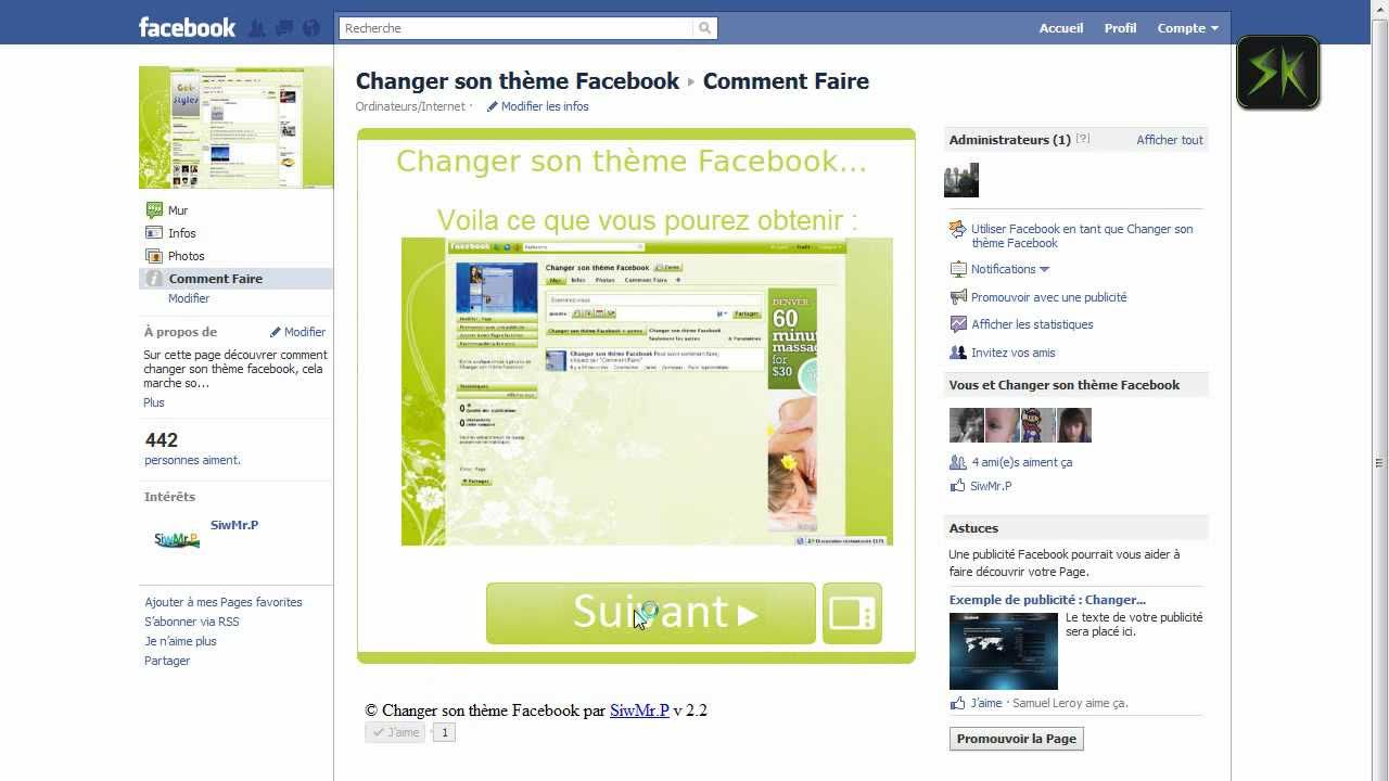 how to change facebook theme on google chrome