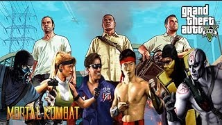 Mortal Kombat In Grand Theft Auto 5 - Funny Montage(Hey guys, here's a crazy idea i had one night. Mortal Kombat in Grand Theft Auto 5. Thought it would be a good idea to do some fatalities and pits. I hope you ..., 2013-10-15T10:11:27.000Z)