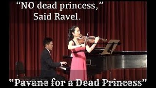 Jae In Shin(Violin) palys Pavane for a dead princess by Ravel.
