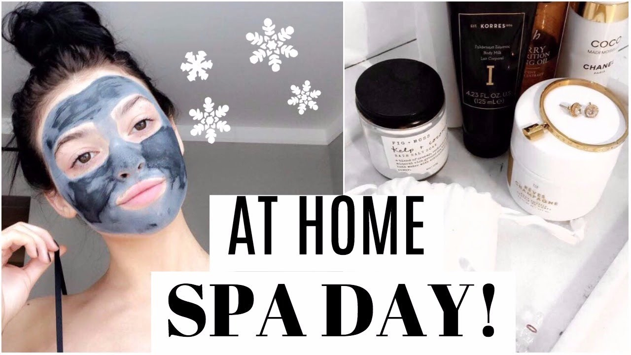 AT HOME SPA DAY! Winter Skincare | Vlogmas 6