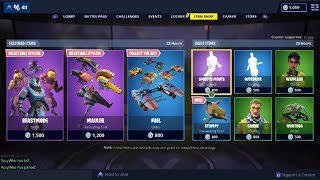 Fortnite Item Shop NEW Beastmode Skin & ALL Styles Showcase! [March 23rd, 2019]
