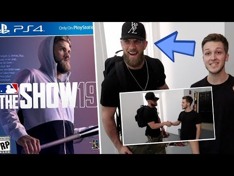I MET BRYCE HARPER AT THE MLB THE SHOW 19 COVER SHOOT!