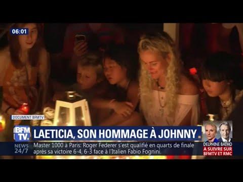 Veillée en musique la tombe de Johnny pour Laeticia